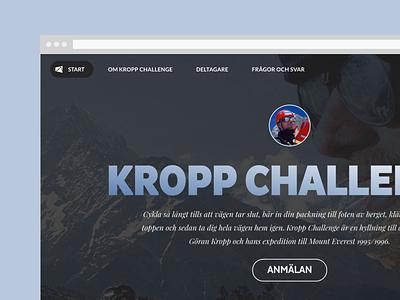 Kroppchallenge climbing cycling contest challenge everest adventure
