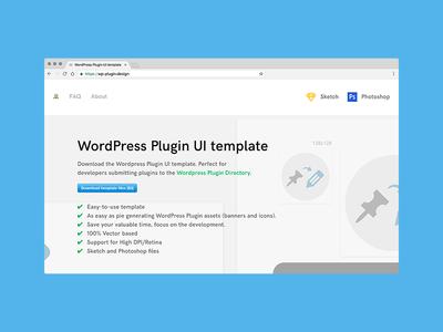 WordPress Plugin UI template banner icon website ui template developer plugins wordpress