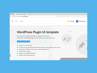 WordPress Plugin UI template