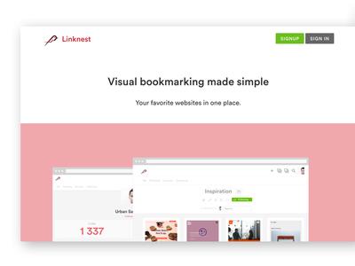Start Page Redesign redesign bookmarks linknest website start home