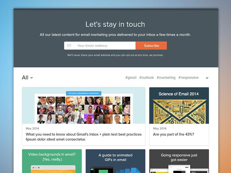 Litmus Newsletters web design template website app project table index timeline flat dashboard ux ui
