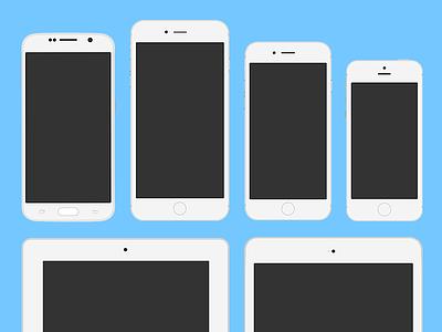 Flat Mobile Illustrations free ipad ai vector mockup psd application app iphone mobile illustration flat
