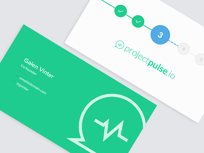 Business Cards green project moo design stationary vector illustration logo branding print card business