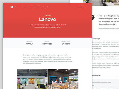 Case Study Page responsive navigation stats ui blog article post minimal landing page typography case study