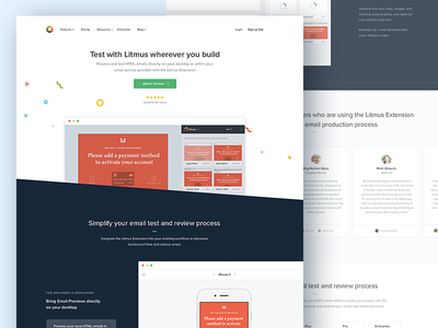 Litmus Extension: Landing Page