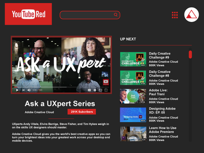 Youtube Red Concept