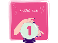 1 Dribbble Invite UPDATED