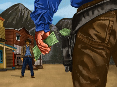 A Standoff ipad procreate illustration florida orlando envy labs money wild west standoff
