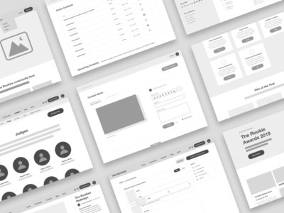 The Rookies Wireframes