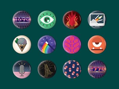 Buttons on Buttons orlando epcot 1980s eye button design envy labs button