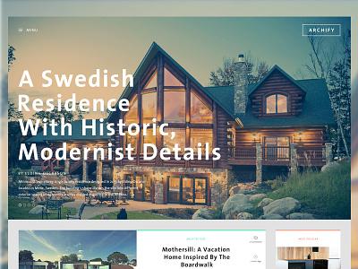 Archify Theme V1 portfolio gallery web responsive icons wordpress theme layout