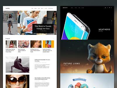 Archify Alternate Homepages portfolio fashion web beauty blog clean flat homepage gallery slideshow minimal