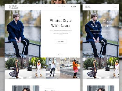 Fashion Blog Redesign fashion blog redesign revamp wordpress photography website mobile responsive desktop clean minimal