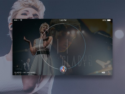 A New Video Player Experience ux ui music video mobile iphone 6 plus icons pause player hd
