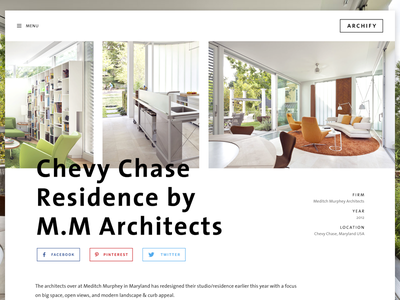 Archify Inner Page V3 architecture blog wordpress photography theme web desktop clean minimal