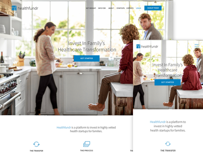 Healthcare Startup Landing Page Revision