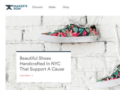 Maker's Row Homepage