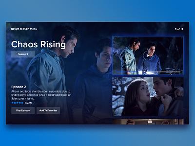 Episode Guide Smart TV Exploration interface guide modern smart tv episode ui tv