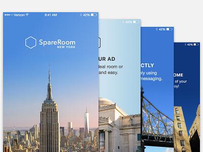 Loading Screen & Walkthrough for Real Estate App screen loading walkthrough clean redesign queens brooklyn manhattan new york mobile iphone app
