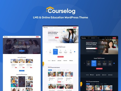 Courselog - Education WordPress Theme wp lms training center teaching online courses lms learning management system learning event education e-learning courses coach