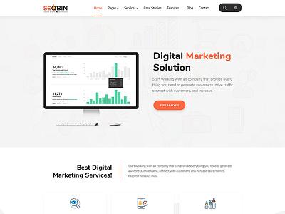 SeoBin | SEO, Social Media and Marketing HTML Template seo website seo services seo business seo agency seo search engine optimizing responsive online marketing digital marketing