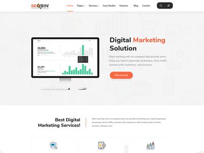 SeoBin | SEO, Social Media and Marketing HTML Template