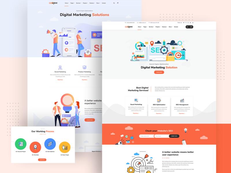 GeoBin | Digital Marketing Agency, SEO WordPress Theme by