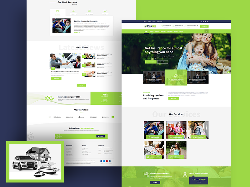 Insurance Agency WordPress Theme life insurance insurance theme insurance agency insurance corporate websites car insurance business agent