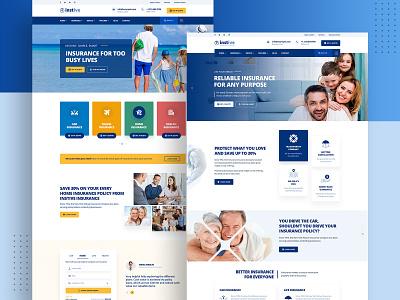 Instive - Insurance WordPress Theme life insurance insurance theme insurance company insurance agency insurance health insurance finance corporate websites business
