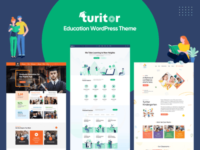 Turitor - Education WordPress Theme wp lms university training center teaching school online courses lms learning management system kindergarten education e-learning courses