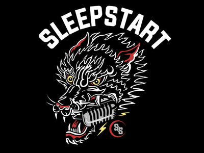 SleepStart Recording Studio vector band design branding illustration merch clothing logo brand design