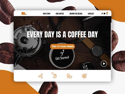 Brewed. brand design landing page web design graphic design logo branding