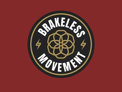 BRAKELESS MOVEMENT graphic design design clothing logo branding brand design