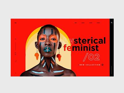 Feminity website branding design webdesign