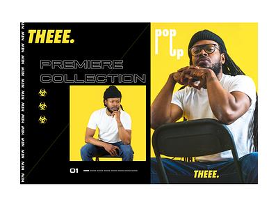 THEEE. webdesign merch typography logo brand design clothing apparel