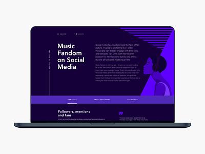 Music Fandom on Social Media Bose campaign website ux landing page design campaign illustration web design ux design ui design ui