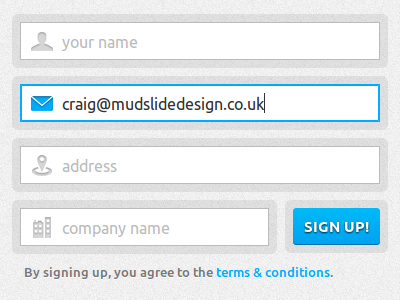 Sign up form ui sign up form input css3 login form