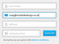 Sign up form