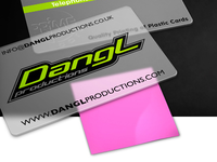 Plastic Card (with pink sticky note)