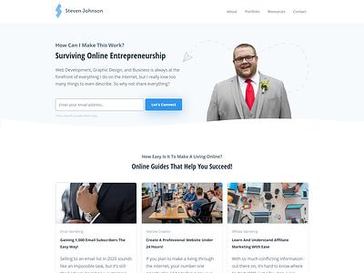My Personal Website Redesign covid19 techjohnson redesign website web development web design branding graphic design design