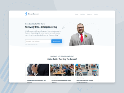 My Personal Website Redesign covid19 techjohnson redesign website web development web design branding graphic design design