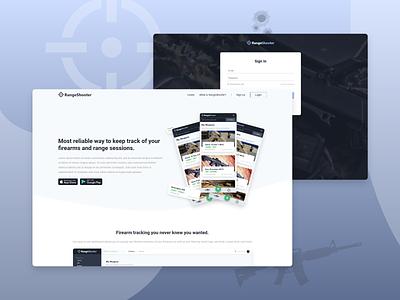 RangeShooter Web Design rangeshooter web branding app web development ui ux web design graphic design design