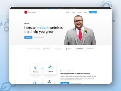 2021 Site Redesign ux ui design branding techjohnson steven johnson web designer adobe xd graphic design website design website web development web developer web design