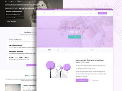 Revolutionary Change Website family counseling counseling mental health revolutionary change webdesign ux ui web development web design branding graphic design design website design website