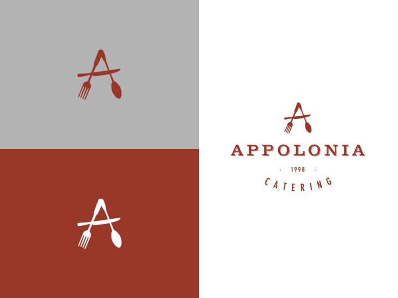 Appolonia Catering Logo Design graphic design branding design logo design appolonia catering