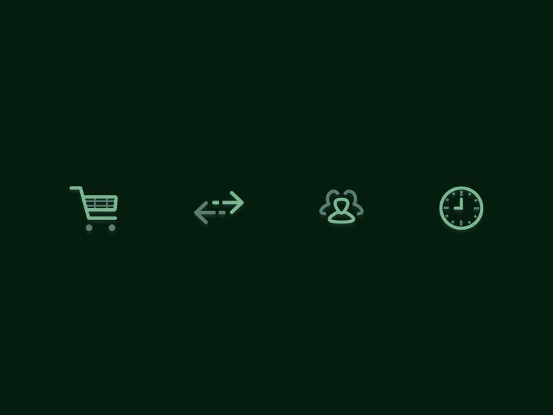 Icon Set - Live Overlays design live overlays icon set icons iconography icon design icon