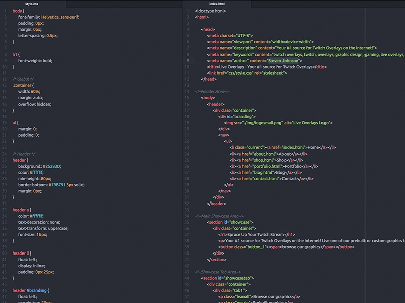 Pretty Coding web design atom live overlays pretty code css html coding web development