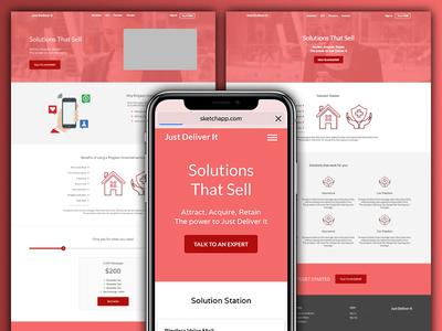 JDI Rough Mockups responsive mobile design sketch mockup developer front end graphic design web development web design