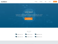 Numbers homepage mockup concept 2