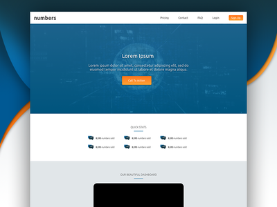 Numbers Web Design Concept